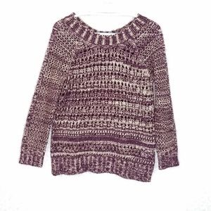 Narciso Rodriguez Purple Open Knit Sweater